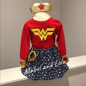 Wonder Woman inspired Halloween Costume size 2T